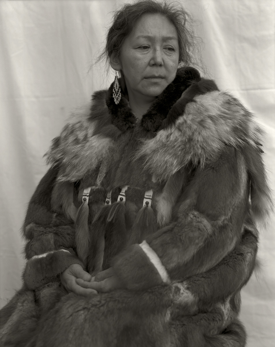 Yupik Woman in Traditional Fur Parka. Alaska